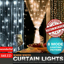300 LED Fairy String Hanging Curtain Light Outdoor Xmas Party Lights LOT $4.93