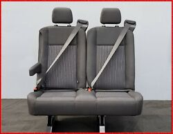 2 PASSENGER GRAY CLOTH RECLINABLE BENCH SEAT WITH ARM UNIVERSAL FIT (MOST CARS)