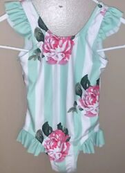Girls One Piece Bathing Suit Little Girls Swimsuits Girls Floral Swimsuit $49.00