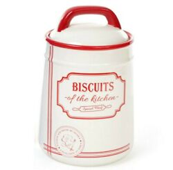 Ceramic Cookie Jar Kitchen Container with Lid BISCUIT Storage 38 fl oz $22.95