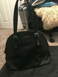 CYNTHIA ROWLEY black Leather Bag Dome Style Large