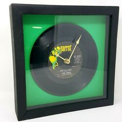 Parrot Records Vintage Tom Jones 60s She's A Lady 45 Record Framed Working Clock