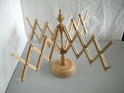 Wooden Tabletop Yarn Swift Winder Marked Made in Italy