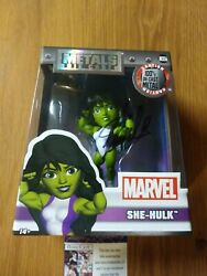 Marvel She-Hulk Die-Cast Metal 4in. Figure Signed By Stan Lee with COA