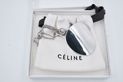 NEW CELINE BY PHOEBE PHILO HALSKETTE LONG BRASS SILVER PETALES NECKLACE
