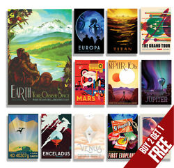 NASA SPACE TRAVEL POSTERS A4 A3 Size Retro Prints Vintage Home  Wall Art Decor
