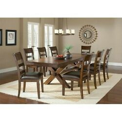 Hillsdale Furniture Park Avenue 9-Piece Dining Set Dark Cherry Brown Vinyl New