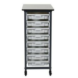 Luxor Furniture MBS SR 8S Mobile Bin Storage Unit Single Row Small Bins NEW $167.07