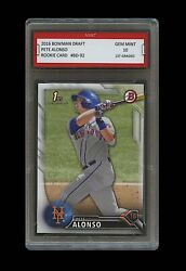 PETE ALONSO 2016 BOWMAN DRAFT Topps 1ST GRADED 10 ROOKIE CARD RC NY METS Peter
