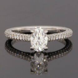 Gabriel & Co White Gold 1.52ct Oval Diamond Solitaire Engagement Ring