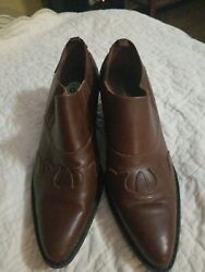 Markon womens boots size 9 brown leather western style Originally $79 $30.00