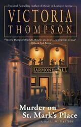 Murder on St. Mark's Place: A Gaslight Mystery by Thompson Victoria in Used -