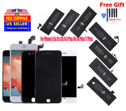 LCD Screen Digitizer Assembly & Battery Replacement For iPhone 5 5s 6 6S 7 8 lot $27.45