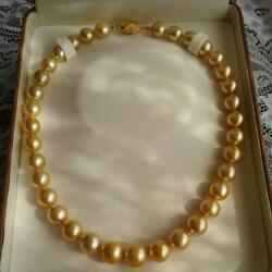 South Sea pearls White Butterfly Natural gold necklace judgment document with