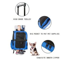 Pet Carrier Dog Cat Rolling Backpack Travel Wheel Luggage Bag Airline Approved $31.99