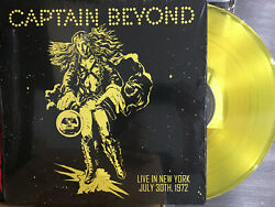 CAPTAIN BEYOND - LIVE IN NEW YORK 1974 Yellow Vinyl LP ( only 300 Made )