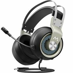 PC Gaming Headset 7.1 Surround Sound PS4 USB Headset with Mic Soft Earmuffs