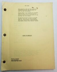 ROAD TO MOROCCO  Frank Butler & Don Hartman 1942 Screenplay BING CROSBY Comedy