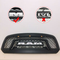 Black ABS Grill Fit For 2013 2014 2015 2016 2017 2018 Dodge Ram 1500 Grille B+