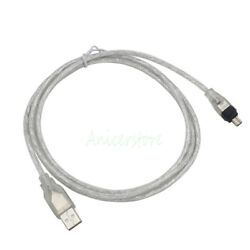 1.5M 5ft USB A Male to 4 Pin IEEE 1394 Firewire DV Camera Date Extension Cable $4.99