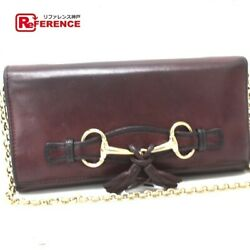 GUCCI 295360 chain wallet tassel and hose bit coin Yes put calf leather (56145