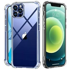 For iPhone 11 12 X XS Max 6 6s 7 8 Plus Clear Shockproof Protective Cover Case $7.95
