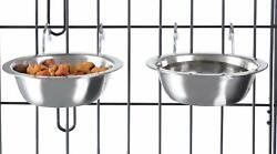 Hanging Pet Bowls for Dogs and Cats Cage Kennel and Crate Feeder Dish 2pcs $14.59