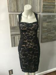 Aidan Mattox Black Lace Midi Cocktail Women#x27;s Dress Size 2 $39.99