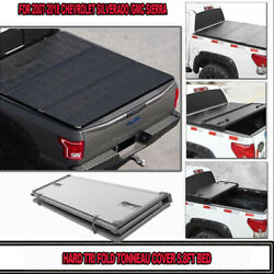 Fit FOR 2007-18 Chevy Silverado GMC Sierra 5.8Ft(66IN)Hard TriFold Tonneau Cover
