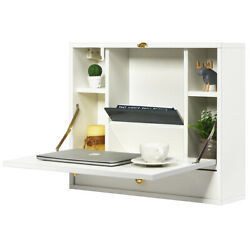 Wall Mounted Folding Laptop Desk Hideaway Organizer Storage Space Saver wDrawer $169.95
