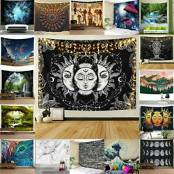 USA Hippie Psychedlic Tapestry Mandala Wall Hanging Bedspread Blankets Home Deco $14.98