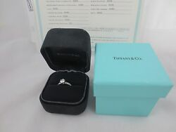 SNOW WHITE TIFFANY & CO PLATINUM 950 DIAMOND RING .81 CTW VS2G WITH CERTIFICATE