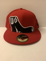 Red Redsox Hat With Big Socks Size 7 5 8 59FIFTY $13.95