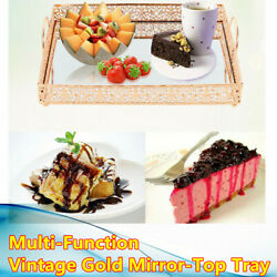 Mirror Top Cake Stand Cupcake Display Fruits Dessert Serving Tray for Decoration