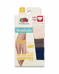 Fruit of the Loom® Women's Breathable Cotton-Mesh Hipster 4-Pack
