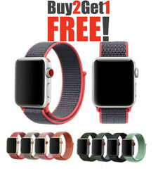 Woven Nylon Band For Apple Watch Sport Loop iWatch Series 4321 38424044mm