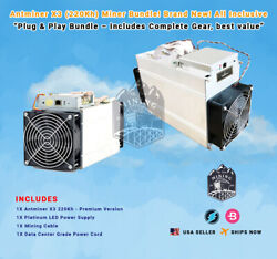 New In Stock! Bundle Bitmain Antminer X3 Crypto Miner! Plug & Play