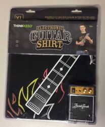 New Think Geek Electronic Guitar Shirt Playable W Amp — Size XL