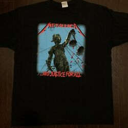 Metallica And Justice For All Black T-Shirt Heavy Metal