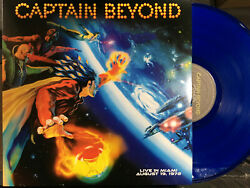 CAPTAIN BEYOND - Live in Miami Aug.191972 Blue Vinyl LP Dancing Madly Backwards
