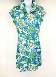 Lilly Pulitzer Dress Womens Small Rayna Cut Out Back Sweet Sour Knit Pique Polo $89.99