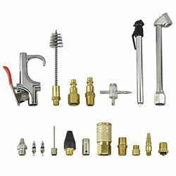 18pc Accessory Kit for Air Tools Brass 14NPT Fittings Adaptor Connector Chuck