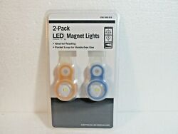 2 Pack LED Magnet Lights With Batteries amp; Pocket Loop Brand New In Package $7.99