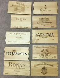 Lot Of 10 Assorted Branded Wooden Wine Wood Panels Box Crate Different! (Lot 25)