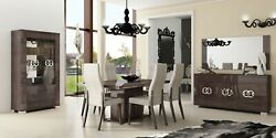 ESF Prestige Contemporary Dining Room Set Made in Italy by Status 9 Piece set $4999.00