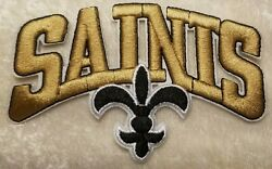 New Orleans Saints Gold 4quot; Iron On Embroidered Patch USA Seller $5.95