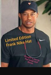 Nike Frank Tiger Woods Hat Authentic Genuine Nike Super Limited Edition Rare!