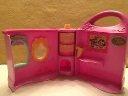 2004 LPS LITTLEST PET SHOP PINK DOGGIE DINER PLAYSET Take Out PINK PURSE House