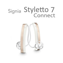 Brand New Signia Styletto 7 Connect Hearing Aids (Premium) + Free Programming