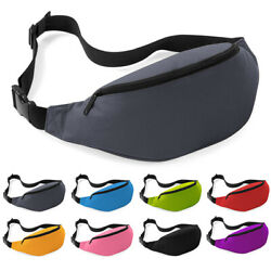 Women Men Pack Waterproof Waist Bags Fanny Camping Pocket Accessory Solid Color C $6.99